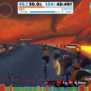 【Training】3R Volcano Circuit Flat Race – 8 Laps (35.2km/21.9mi 160m)【ZWIFT】