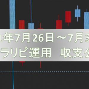 【FX自動売買の話】トラリピ編『2021年7/26~7/31 収支公開』って話