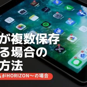 画像のファイル名が「HORIZON〜」となり複数保存されてしまう現象の改善方法