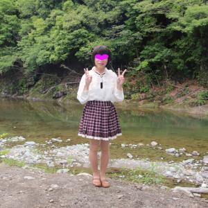 夏の思い出 水着で川遊び  その1