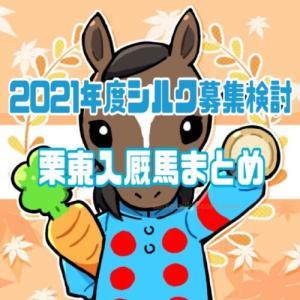 2021年度シルク募集検討 No.40-74/栗東入厩馬まとめ