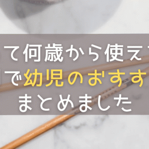箸って何歳から使える?年齢別で幼児のおすすめ箸をまとめました