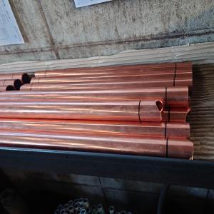 3/22 アルミフィン製作 銅フィン部品座繰り加工 バッカン板剥ぎ シャフト肉盛り