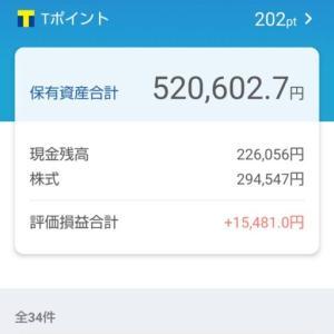 日本株ポートフォリオ(2021.9.17)総合配当割合4.16%配当金月額1,020円