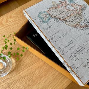 世界地図柄の書類ケースとトレイのオーダー✨