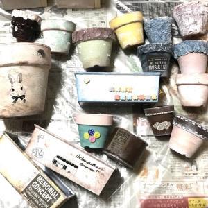 リメ缶・リメ鉢・DIYプランター完成・不器用・絵が描けなくてもナントカなる(* ˃ ᵕ ˂ )b