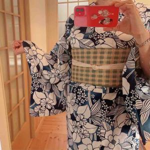 モーニングに行く日のコーデ☆今年13回目の着物