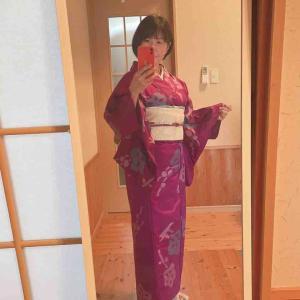 洗い張り復元着物を着る日のコーデ☆今年16回目の着物