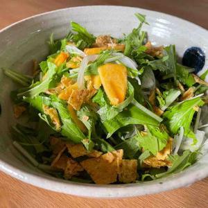 柿と水菜のサラダ