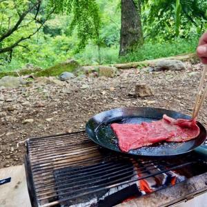 キャンプ心をくすぐる【焚き火フライパン】ハンドルは現地調達で自作!