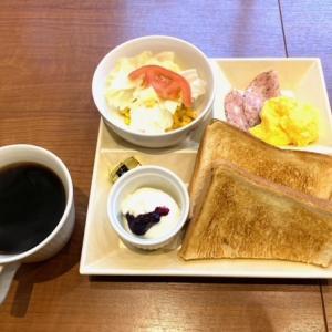 阪急箕面駅前、カフェ・ド・クリエ 箕面で7時からモーニングです