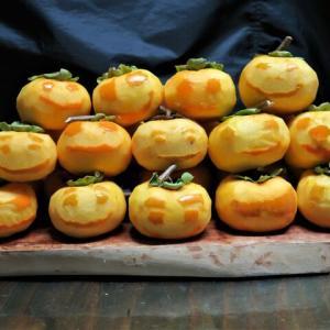 顔のある干し柿