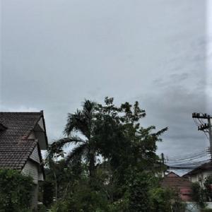 雨季の洗濯物とパッガバオ・サイクローㇰ