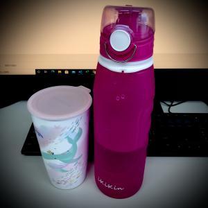 【ikikin】折りたためる1L水筒とマグボトル