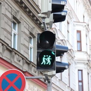 多様性を受け入れる、ウィーンの信号機
