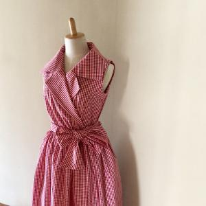 茅木真知子さんのパターンで作ったドレス