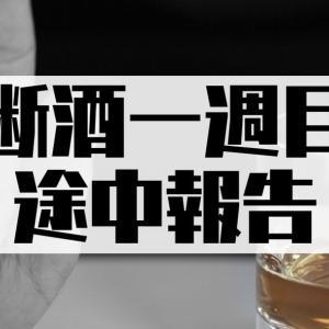 断酒1週目【経過報告】お酒を断ってみて