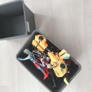 【ダイソー】~かさばるおもちゃ収納に最適なBOX見つけました!~