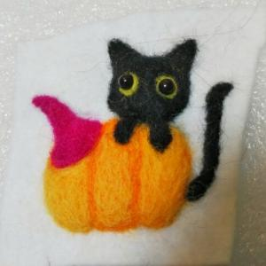 羊毛フェルトでハロウィン2021~フェルト刺繍にチャレンジ♪その1