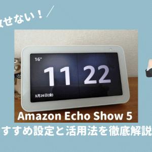 Echo Show 5 (エコーショー5) おすすめ設定と活用方法