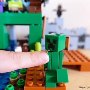 レゴ(LEGO) マインクラフト マイクラ好き息子がこの夏3つ作りました~巨大クリーパー像の鉱山、クラフトボックス、ブレイズブレッジでの戦い