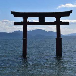 琵琶湖畔に佇む白鬚神社