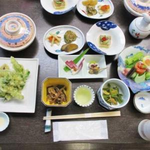 中房温泉の夕食