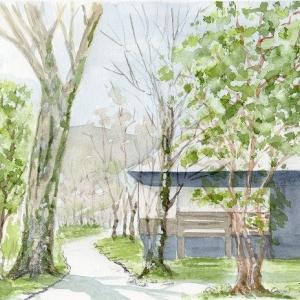 箱根・芦ノ湖湖畔の風景