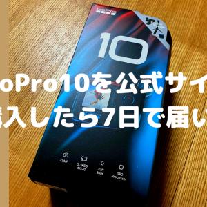 【GoProHERO10】公式サイトでGoPro10を購入したら何日で届く?