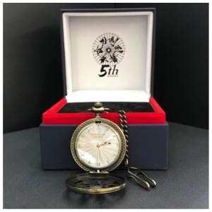 【数量限定】舞台『刀剣乱舞』5周年記念 番傘デザインオリジナル懐中時計(シリアルNo入り)