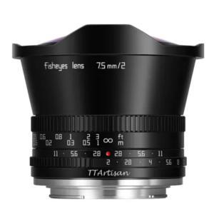 【APS-C対応】ミラーレス用魚眼レンズ「TTArtisan 7.5mm f/2 C Fisheye」のスペックや価格