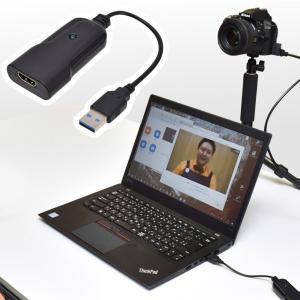 手持ちの一眼カメラやビデオカメラをWEBカメラに!「HDMI to USB WEBカメラアダプタ」  とは?