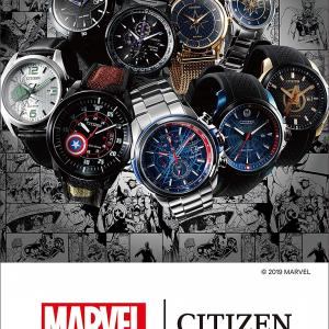 """アメコミ""""MARVEL(マーベル)""""コラボ腕時計!!全9種『CITIZEN(シチズン) マーベル・スペシャルモデル』&締切間近フィギュア"""