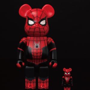 スパイダーマン×ベアブリック【抽選締切注意!!】セブンネット限定『BE@RBRICK SPIDER-MAN UPGRADED SUIT 100% & 400%』
