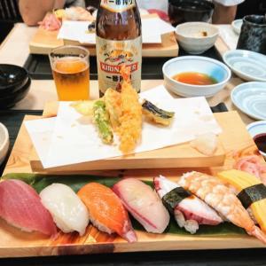 天ぷら&寿司ランチ♥️市場ずし駅前@神戸市兵庫区