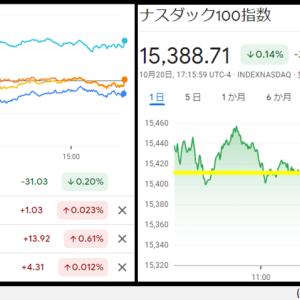 【レバナス】10月21日投資状況