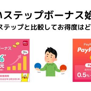 d払いステップボーナス始まる/PayPay Stepと比較してお得度はどうなの?