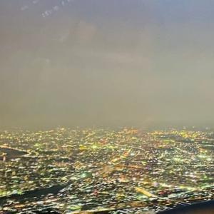 羽田空港に降りる前の夜景は最高ですよね👍1.