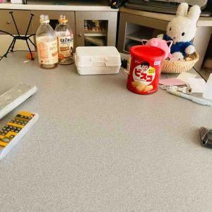 こたつ机の上を片付ける&間引き