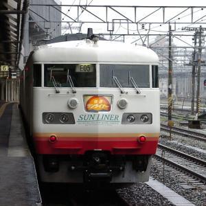 JR西日本 撮影日2003年07月13日-2 117系 快速サンライナー 岡山駅