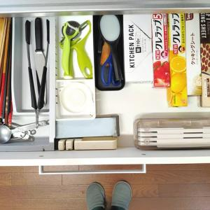 【キッチン収納】引出しで活躍する百均グッズ