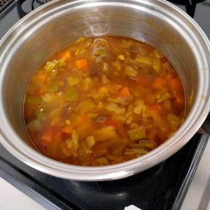 重ね煮でつくるカレースープ