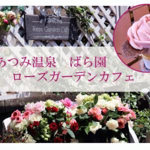 あつみ温泉のばら園「ローズガーデンカフェ」できれいなバラのアイスを食べてきました!