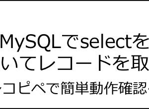 【コピペOK】MySQLでselectを用いてレコード(データ)を取得する