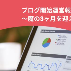 ブログ開始運営報告〜魔の3ヶ月を迎えて〜