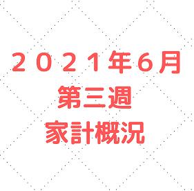 【家計管理 結果 検証】2021年6月 第三週 家計概況