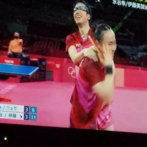 東京オリンピック卓球ダブルスが金メダル❗~水谷&美誠ペアおめでとう!