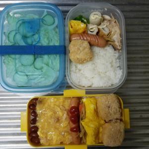 夏休みのお弁当❗~旦那弁当と高校生男子のお弁当~