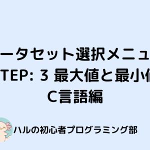 【paizaラーニング】【データセット選択メニュー】STEP: 3 最大値と最小値 C言語編【解説】【初級】【入門】