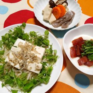 豆腐とちりめんじゃこのサラダ♡低カロリーの食材
